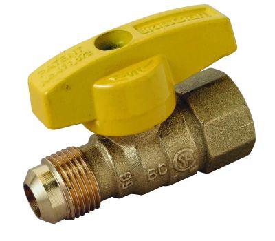 Brass Craft PSSD-41 Plumb Shop Gas Ball Valve Straight 1/2 By 1/2 Inch Od