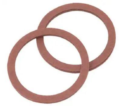 Brass Craft SCB0200 Plumb Shop Red Pressed Fiber Cap Thread Gasket 1.12 Inch By.901 Inch