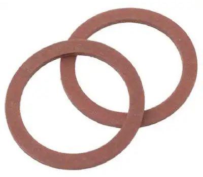 Brass Craft SCB0208 Plumb Shop Red Pressed Fiber Cap Thread Gasket 1.12 Inch By.88 Inch