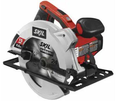 Skil 5280-01 Circular Saw, 120 V, 15 a, 7-1/4 in Dia Blade, 5/8 in Arbor, 51 Deg Bevel