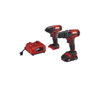 Skil CB739001 Kit Combo Drill/Impct Drvr 20v