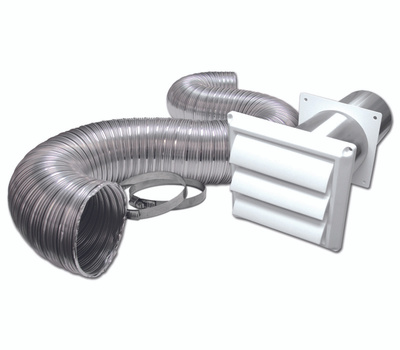 Lambro 313WUL Louvered Vent Kit, 1-Piece, for Gas and Electric Dryer Installations