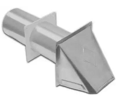 Lambro 344S Preferred Hood Vent, 6 in W Hood, 4.76 in H Hood, 4 in Duct, Aluminum Hood