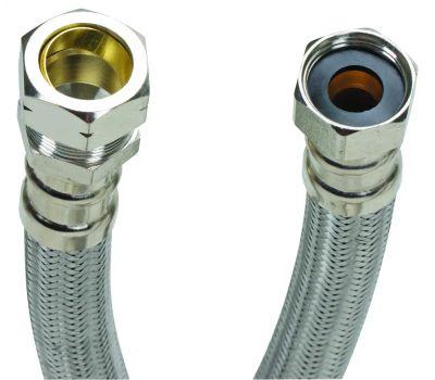Fluidmaster B4H18 No Burst Water Heater Connector Flexible Braided 18 Inch