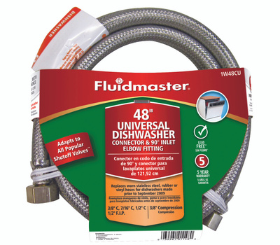 Fluidmaster 1W48CU No Burst 48 Inch Fitsall Dishwasher Connect