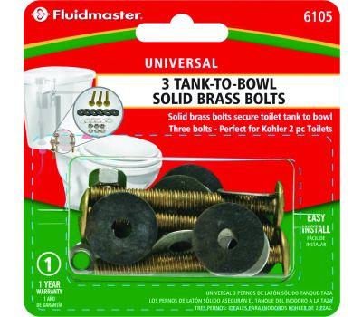 Fluidmaster 6105 3 Bolt Tank To Bowl Kit