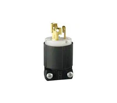 Eaton Wiring Devices CWL515P Electrical Plug, 2-Pole, 15 a, 125/250 V, Nema: L5-15, Black/White