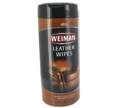 Weiman 91 Leather Wipes 30 Count Package