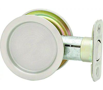 Kwikset 33415A RND Pocket Door Passage Round Pocket Door Pull Antique Nickel