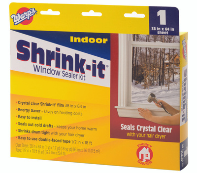 Warp Brothers SK-38 Shrink It Window Insulator Kits Indoor 38 Inch By 64 Inch