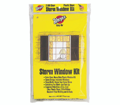 Warp Brothers EZ-36 Easy On Storm Window Insulate Kits 36 Inch By 72 Inch