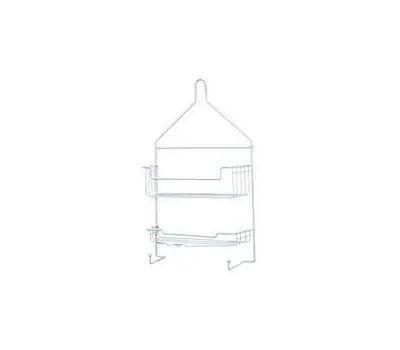 Kenney KN614121 Hanging Shower Caddy, 2-Shelf, Metal