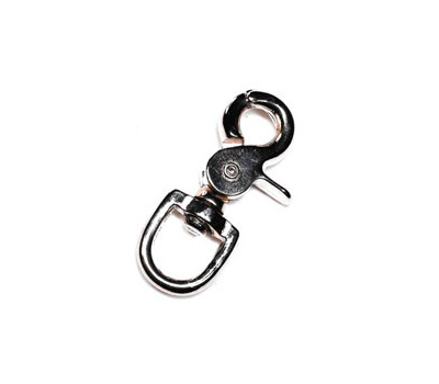 Baron 5013-5/8 Trigger Snap 5/8 Inch Swivel Round Eye 2-3/4 Inch Nickel Plated Die Cast Zinc
