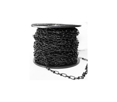 Baron 7223 Double Loop Chain, #3, 200 Ft L, 12 Pound Working Load, Steel, Zinc