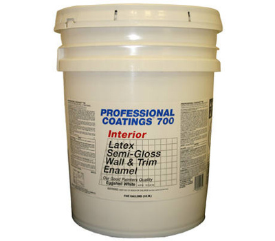 General Paint ACP14-5G Professional Coatings 5 Gallon White Semi Gloss Paint