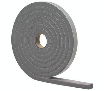 MD Building Products 02295 Grey High Density Foam Tape 1/2 Inch By 3/8 Inch By 10 Foot
