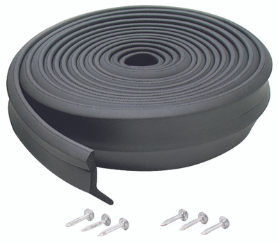 MD Building Products 03723 Black 9 Foot Garage Rubber Door Bottom.