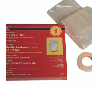 MD Building Products 04283 Patio Door Shrink And Clear Seal Kit
