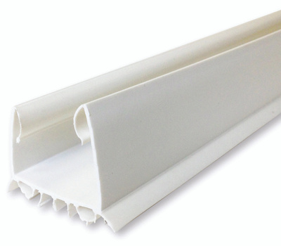 MD Building Products 43336 Door Seal, 2-1/4 in W, 36 in L, Vinyl, White