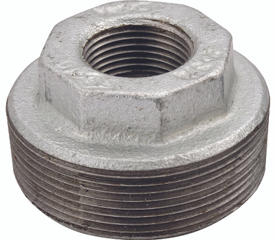 WorldWide Sourcing 35-1-1/2X1-1/4G 1-1/2 By 1-1/4 Inch Galvanized Malleable Bushing