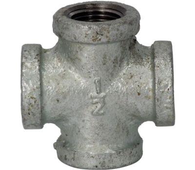 WorldWide Sourcing 0745 1/2 Inch Galvanized Malleable Cross