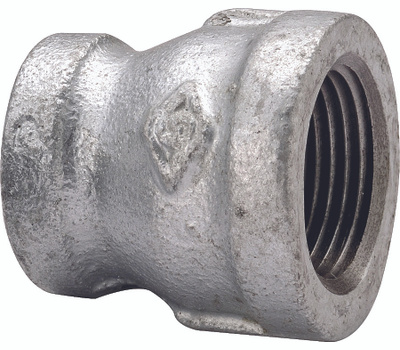 WorldWide Sourcing 24-1/2X1/4G 1/2 By 1/4 Inch Galvanized Reducing Coupling