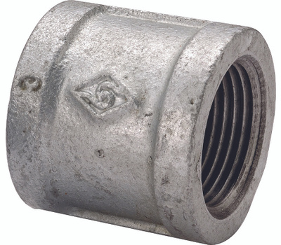 WorldWide Sourcing 21-1 1/4G Galvanized Malleable Coupling 1-1/4 Inch