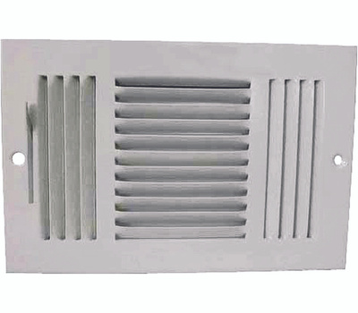 WorldWide Sourcing SW03-10X6 Prosource Sidewall Register 3 Way White 10 Inch By 6 Inch