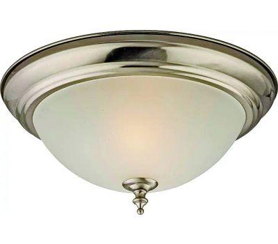 Boston Harbor F51WH02-1005-BN Flush Ceiling Fixture 2 Light Alabaster Glass Brushed Nickel