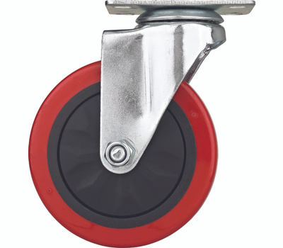 ProSource JC-385-G Swivel Plate Caster 5 Inch Polyurethane Wheel