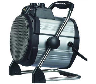 Power Zone BNT-15B2 Ceramic Utility Heater, 12.5 a, 120 V, 750/1500 W, 1500w Heating, 2-Heat Setting, Grey