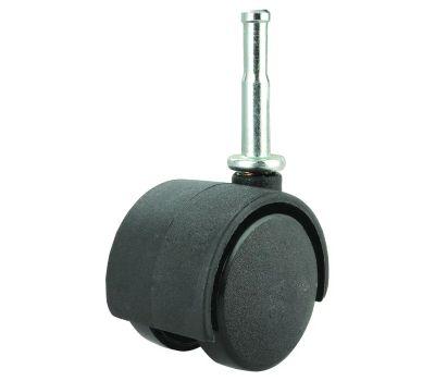 ProSource JC-F02-PS Caster 2-Wheel Stem 1-5/8 Black 2 Pack