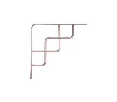 ProSource SB-035PS Decorative Shelf Bracket 8 By 8 Inch Satin Nickel