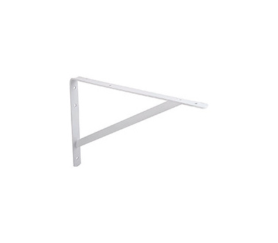 ProSource 21024PHL-PS Heavy Duty Shelf Bracket 12 By 8 Inch White