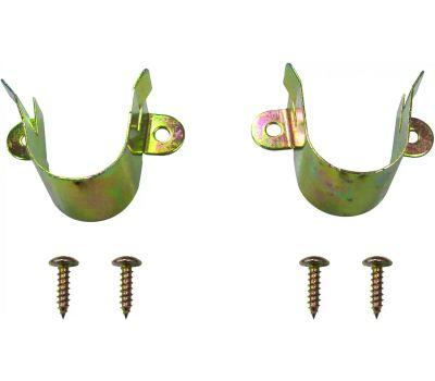 ProSource 33059CZB-PS Closet Pole Bracket Satin Brass Pair
