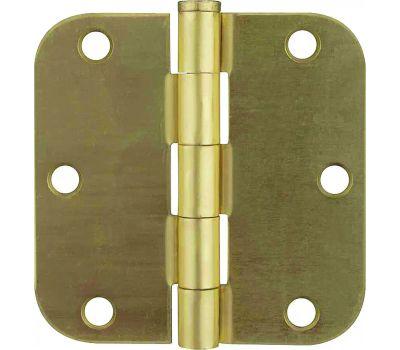 ProSource BH-BR01-PS Door Hinge 1/4 Radius 3 By 3 Inch Satin Brass