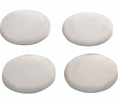 ProSource FE-50774-PS Self-Adhesive Furniture Bumper Disks 1-1/4 Inch Round Clear Plastic 4 Pack