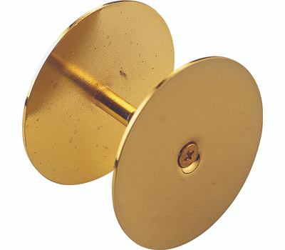 ProSource HSH-021-PS Hole Cover Plate 2-5/8 Inch Diameter Brass