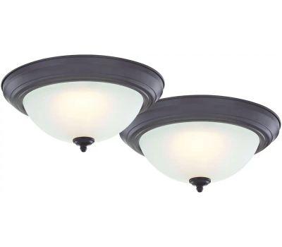 Boston Harbor ZD13-BN-C Ceiling Light Fixture, 2-Lamp, Led Lamp, 1500 Lumens, 3000 K Color Temp
