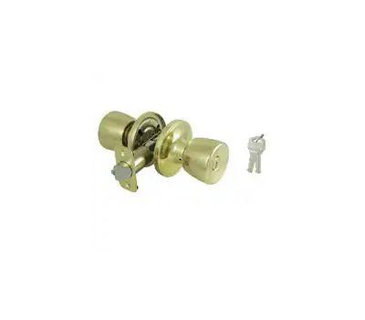 ProSource TS710BRA4B Economy Tulip Privacy Lockset Polished Brass Box Pack