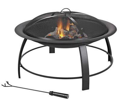 Seasonal Trends KLF-150031 Fire Pit, 30 in Oaw, 30 in Oad, 19 in Oah, Round, Steel