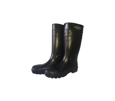 DiamondBack L-G06B9 Knee Boots, 9, Black, Pvc Upper