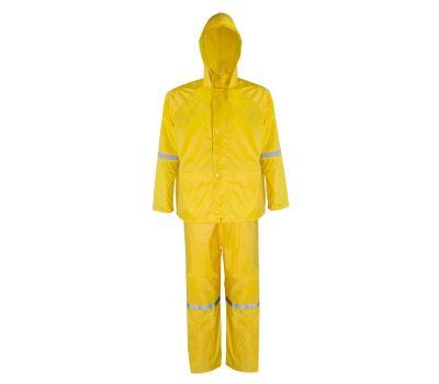 DiamondBack RS3-01-XXL Rain Suit, 2xl, Polyester, Concealed Collar, Zipper Closure