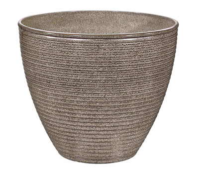 Landscapers Select PT-S005 Planter Wave Resin 13 By 11 Inch