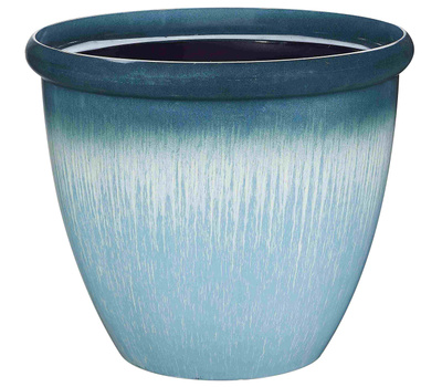 Landscapers Select PT-S010 Planter Egg With Rim Resin 14-3/4 Inch