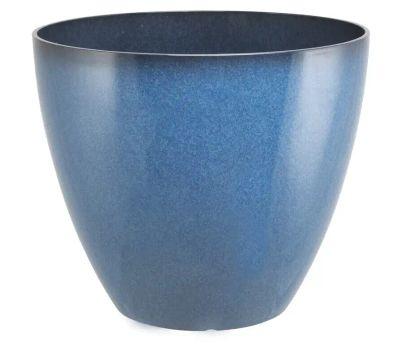Landscapers Select PT-S080 Resin Planter Blue 15 Inch
