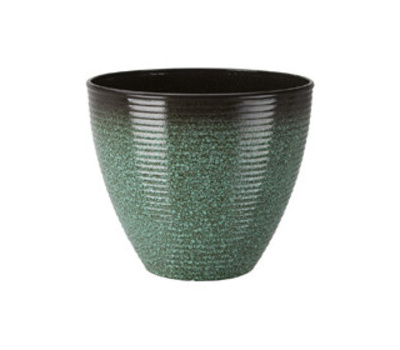 Landscapers Select PT-S007-B Resin Planter Wave 14-3/4 Inch