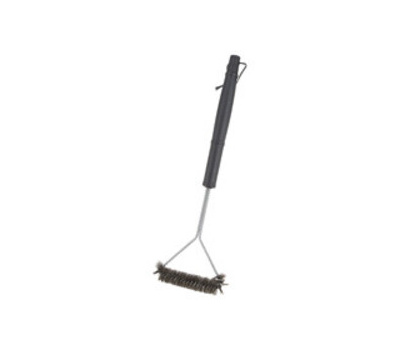 Omaha BBQ-37143 Wide Head Grill Brush, 6-3/4 W Brush, Stainless Steel Bristle, Stainless Steel Bristle, 18 in L