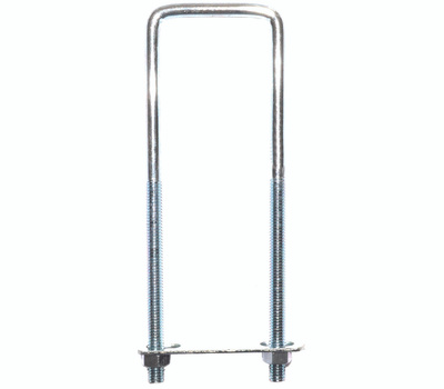 ProSource LR352 Square U-Bolt, Plate & Nuts #537 5/16 By 2 By 7 Inch Zinc Plated Steel