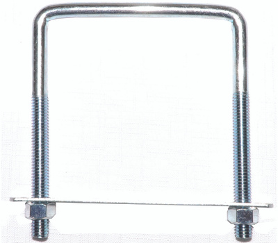 ProSource LR356 Square U-Bolt, Plate & Nuts #675 3/8 By 4 By 5 Inch Zinc Plated Steel